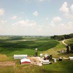 Open farm fields