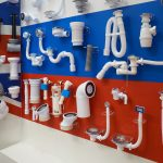 A display wall with different types of poly pipe