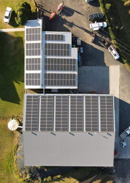 Solar Panels on a farm in Coffs Harbour